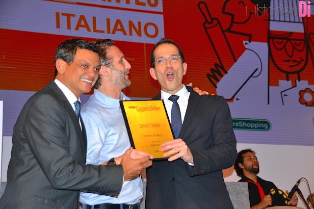 Vencedores da categoria Restaurante Italiano: Fasano Al Mare