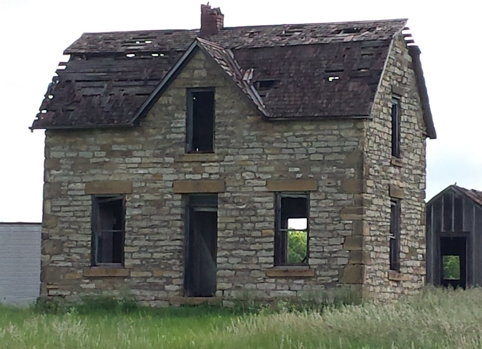 We Passed This Old Abandoned Stone Farmhouse Along The Way Its Sad To See Beautiful Structures Like Slowly Crumbling And Falling Down