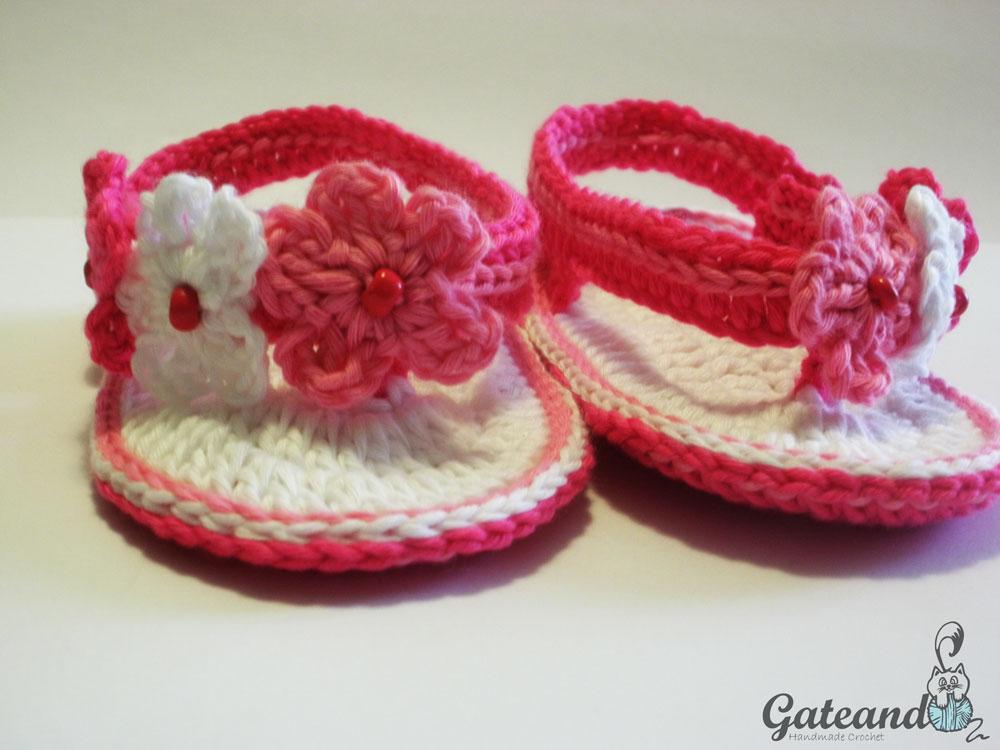 Sandalias Crochet para Bebé