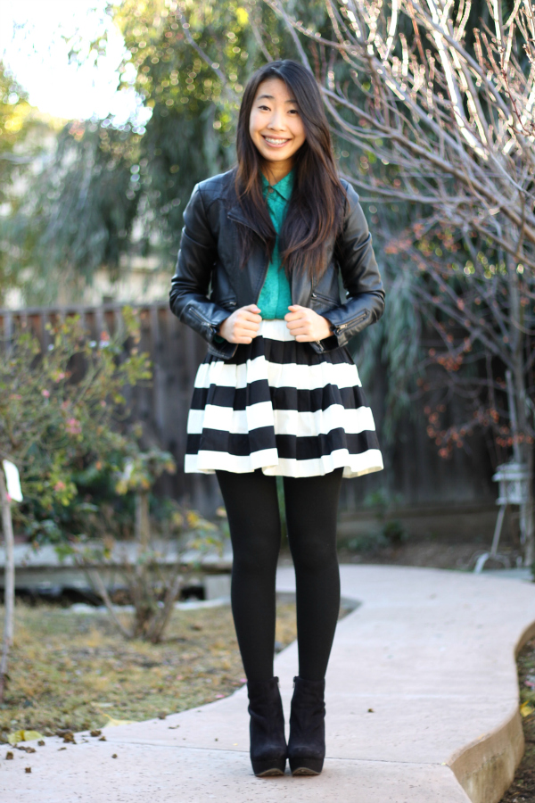 black tights black boots outfit