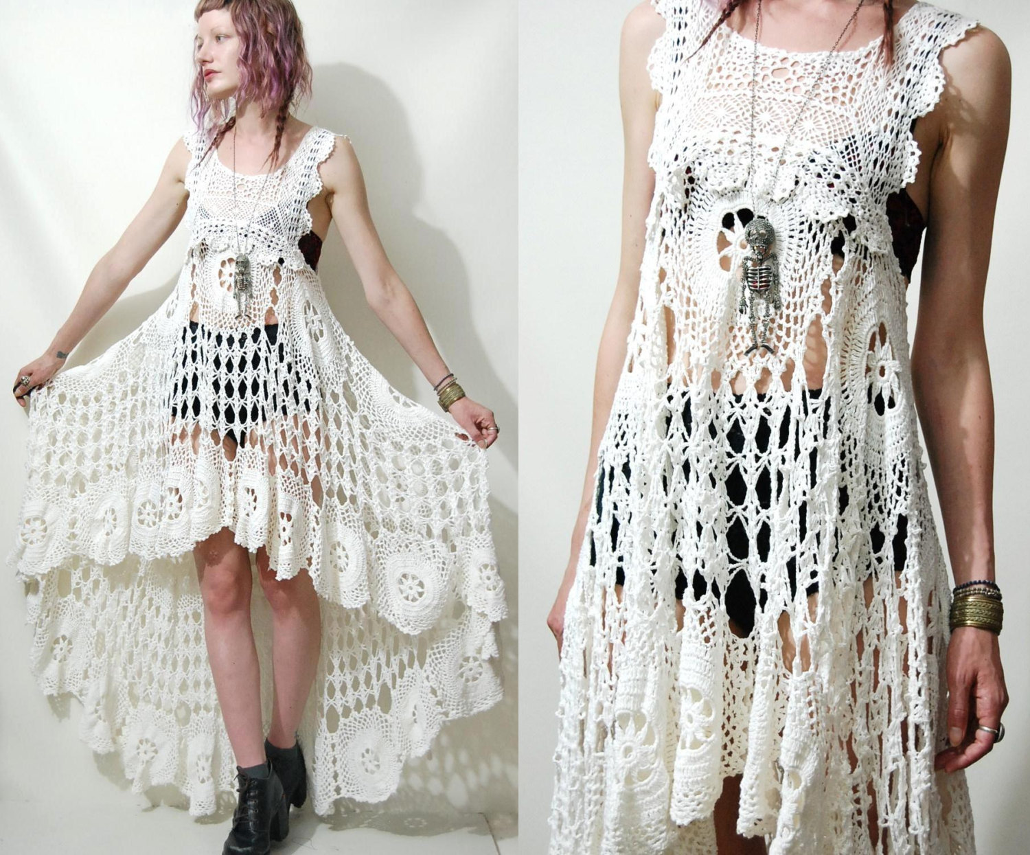 Crochet Clothing : Crochet Dress Vintage Lace by cruxandcrow