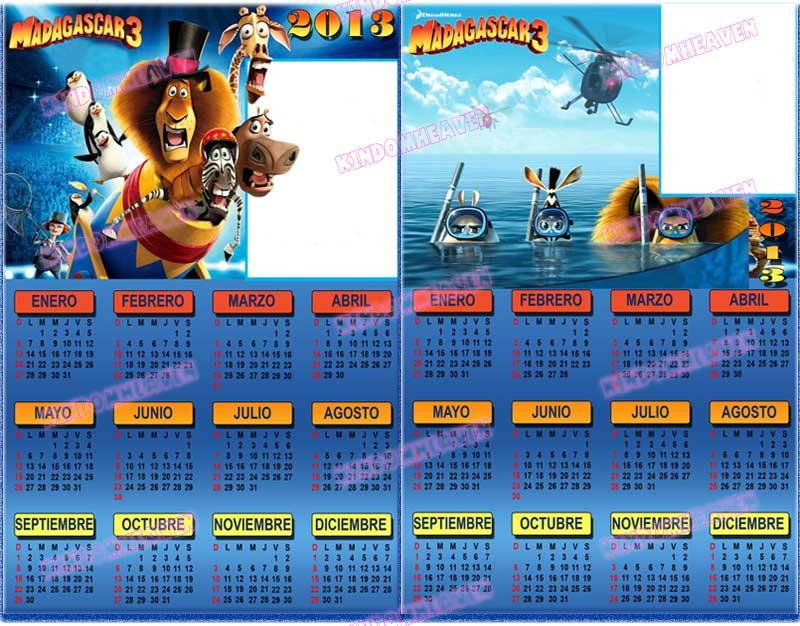 calendarios 2013 madagascar 3 la hera de hielo 4
