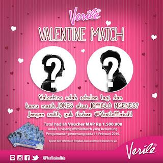 Info Kontes - Kontes #VerileMatch Valentine Berhadiah Voucher MAP Total 1.5 Juta