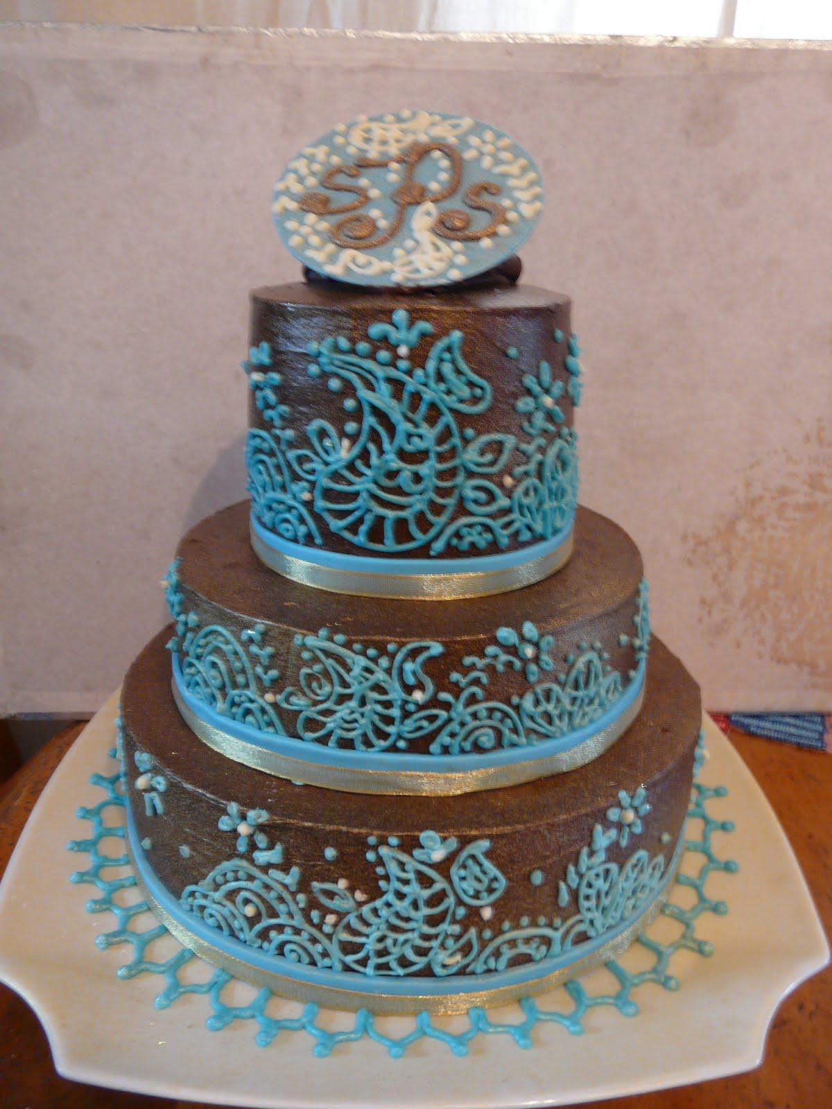 Mehndi Pattern Cake : Sug�ar from the heart bakeshop henna cake design