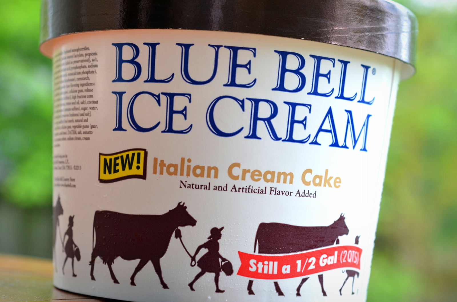 food and ice cream recipes REVIEW Blue Bell Italian Cream Cake