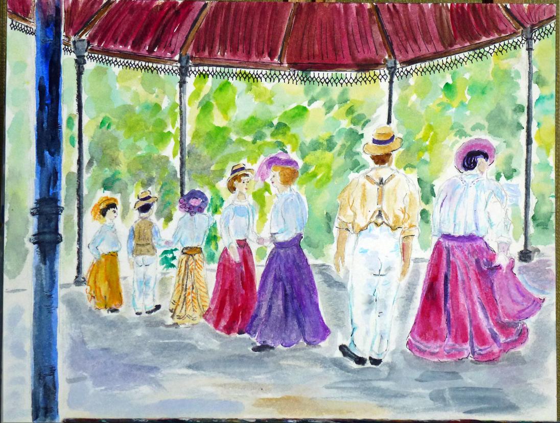 Art de vivre la peinture de peintrefiguratif aquarelle for Art du jardin zbinden sa
