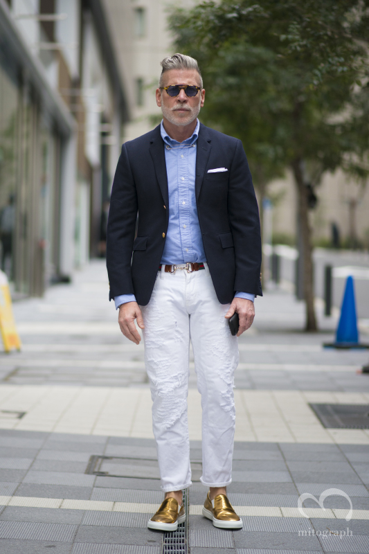 Nick Wooster at Japan Tokyo Fashion Week 2014 Fall Winter