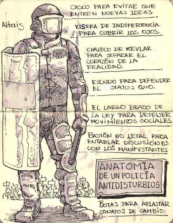 Anatomía de un policía antidisturbios | Chiwulltun