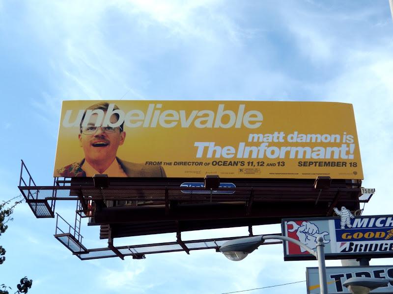 The Informant movie billboard