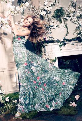 H&M Conscious primavera 2013 vestido largo
