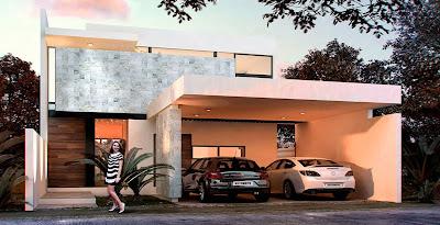 fachada contemporánea de casa moderna