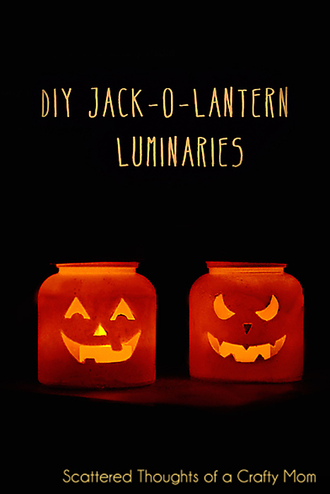 Super easy Jack-O-Lantern candles: Kids love 'em!