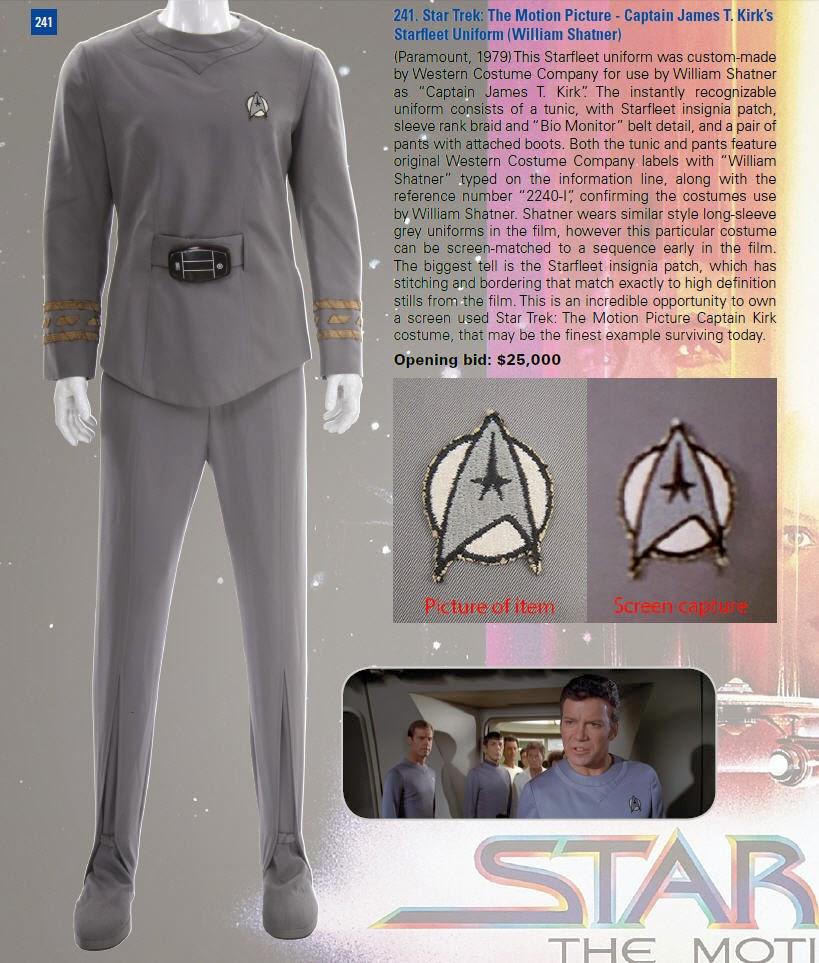 Star Trek Prop, Costume & Auction Authority: William Shatner Admiral ...