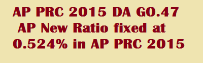 AP PRC 2015 DA GO 47 AP New Ratio fixed at 0.524 in AP PRC 2015