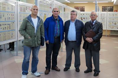 José Luis de la Cruz, Pedro Fandos Rodríguez, Ángel Iglesias Vidal y Fermín Palicio