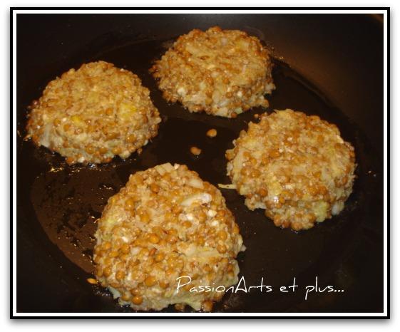 Les recettes de passionarts et plus burger de lentilles - Cuisiner lentilles seches ...