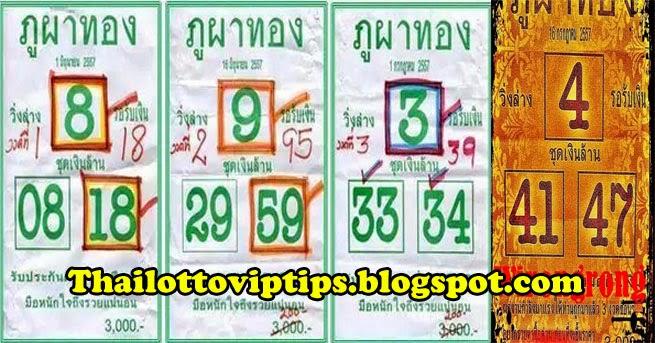 Thai lotto Down Single Digit 16-07-2014