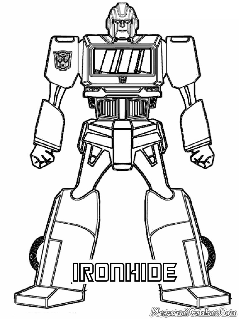 Easy transformer coloring page