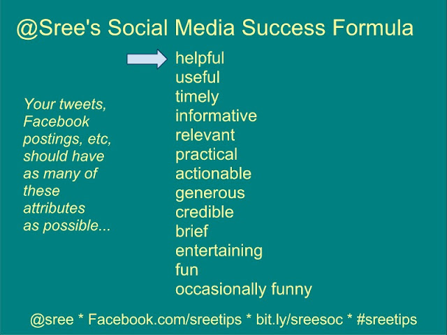 Sree's Social Media success forumula