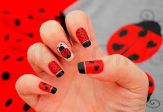 love bug nail art