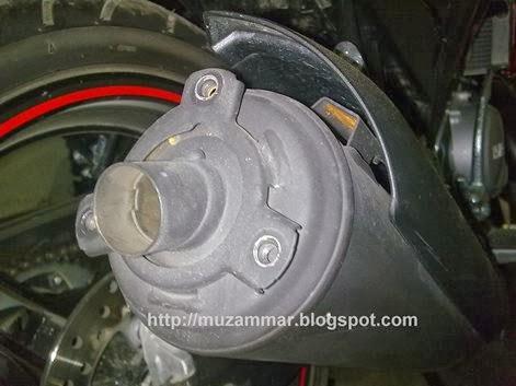 Bentuk Knalpot Yamaha New Vixion Lightning tanpa cover alias corong