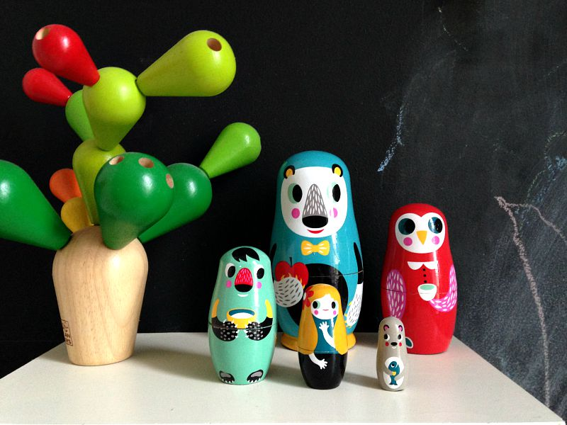 gorgeous wooden nesting dolls by helen drink the kid who