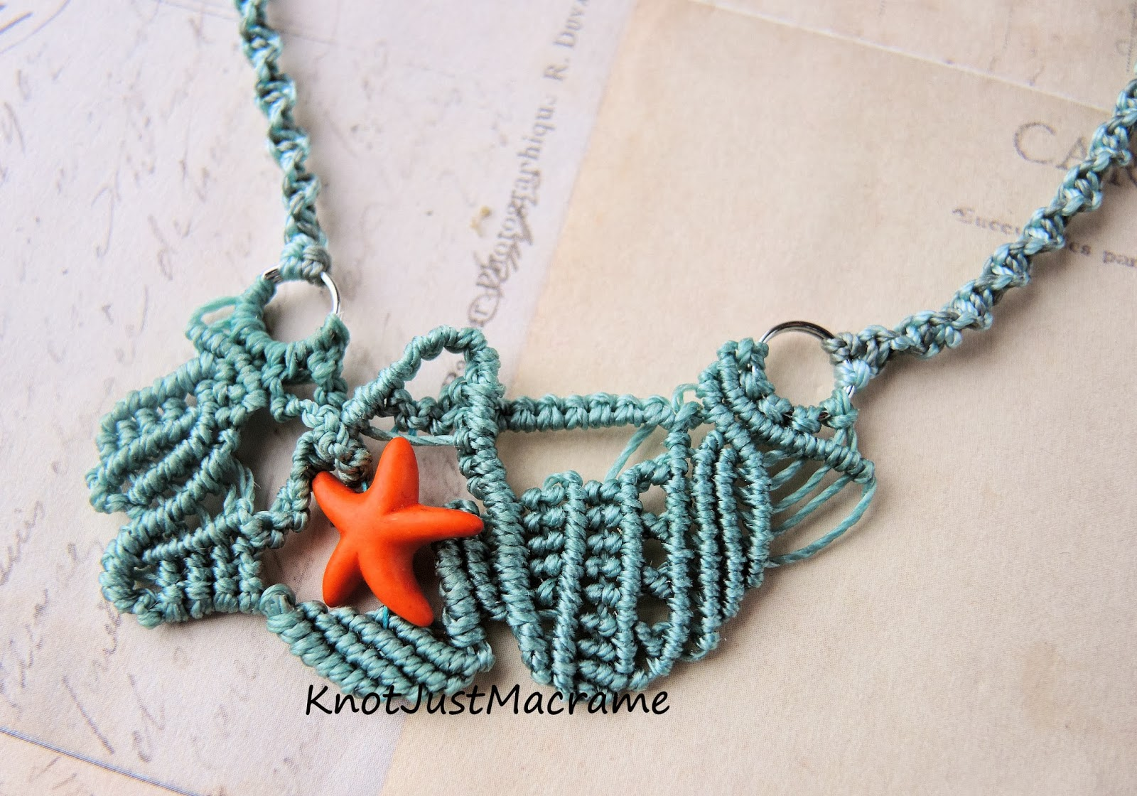 Micro macrame knotting in free form style