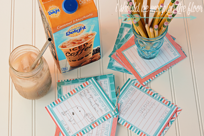 Free Printable Summer Memory Journal Cards   The perfect activity for kids (and adults) to jot down all of their favorite memories of the summer.   Instant  Download
