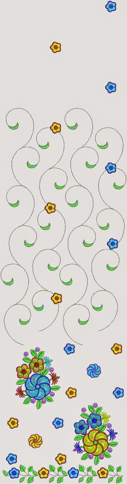 Classic borduurwerk Multi Sari