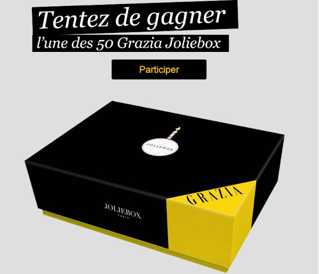 Jeu Concours Grazia: 50 Grazia JolieBox juin 2012 à gagner
