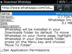 WhatsApp Update to V2.7.7067 for BlackBerry