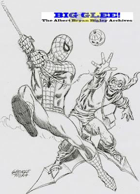 Age marvel comics original comic art green goblin pencil sketch jpg