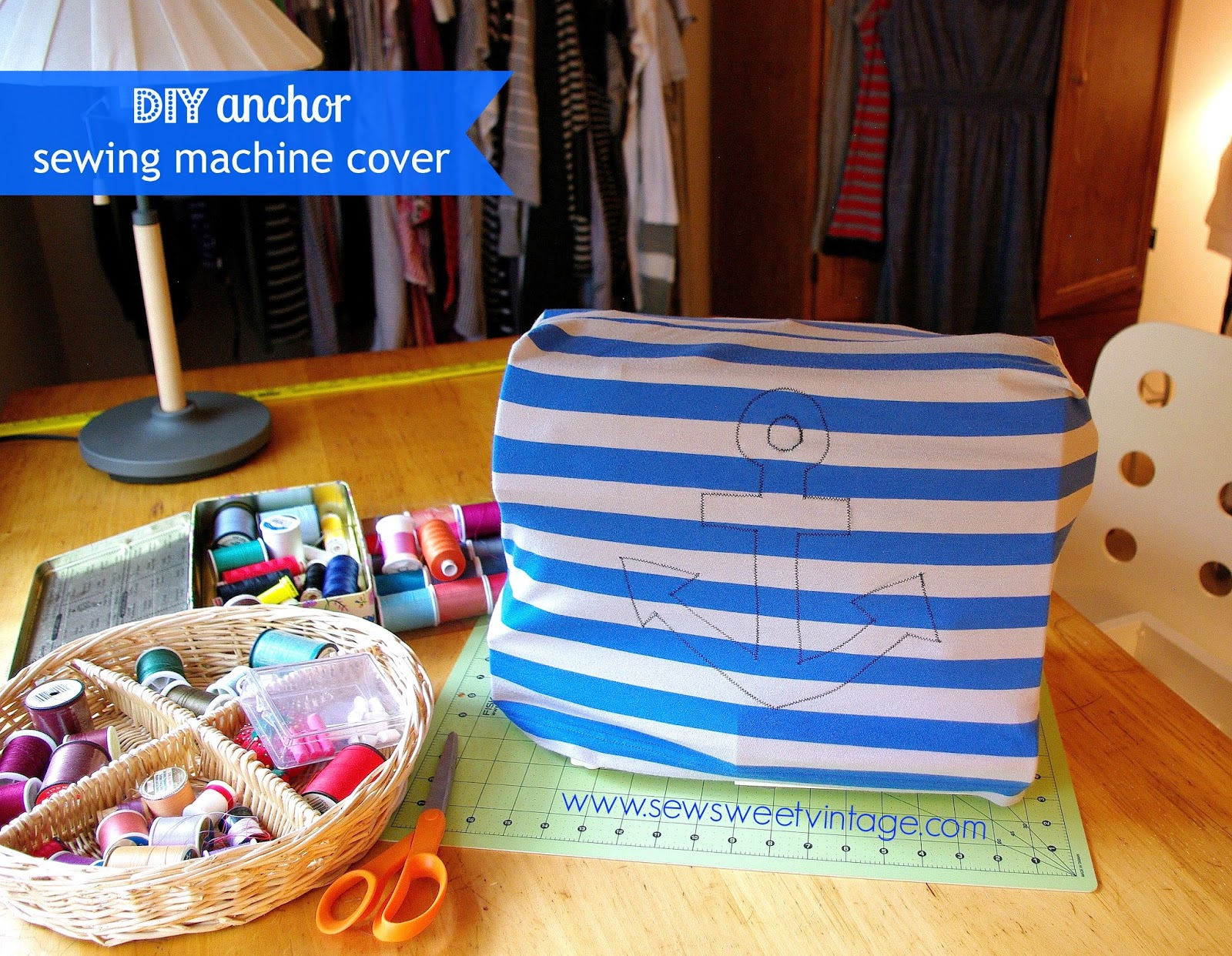 diy anchor sewing machine cover