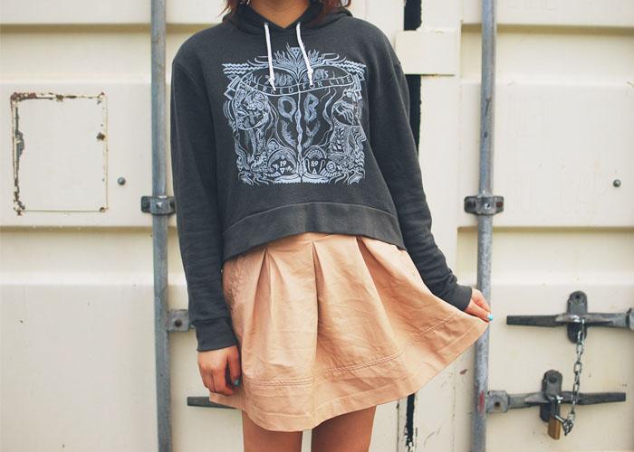 ... Forever 21 pleather skirt [ similar here ] // sandals from Walmart