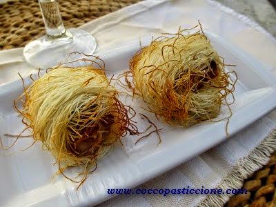 rotolini di pasta kadaifi con tonno fresco allo zenzero