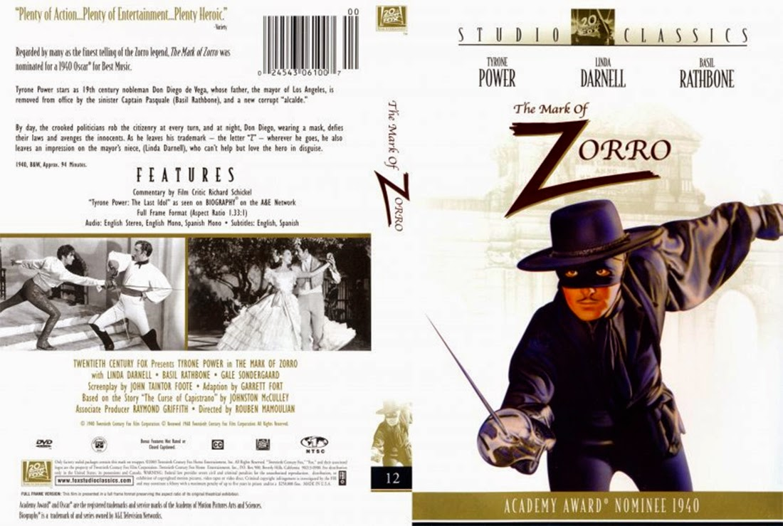 El signo del Zorro (1940 - The Mark of Zorro) - Caratula