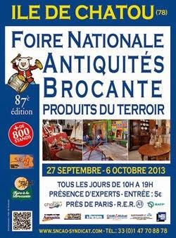 Paris l 39 ouest au programme cette semaine 27 sept au 3 oct 2013 - Foire de chatou 2017 ...