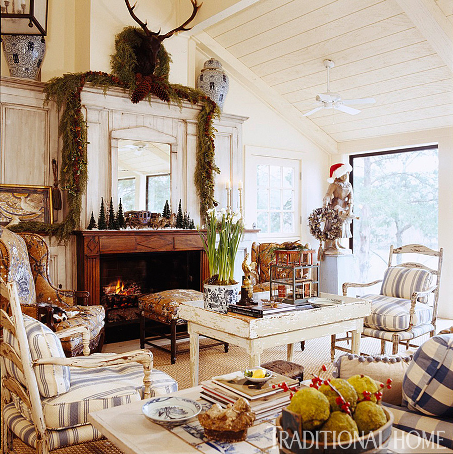 Hydrangea hill cottage french country christmas at the cabin - French country ...