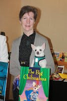 Waverly Curtis author of Chihuahua Confidential with PePe image