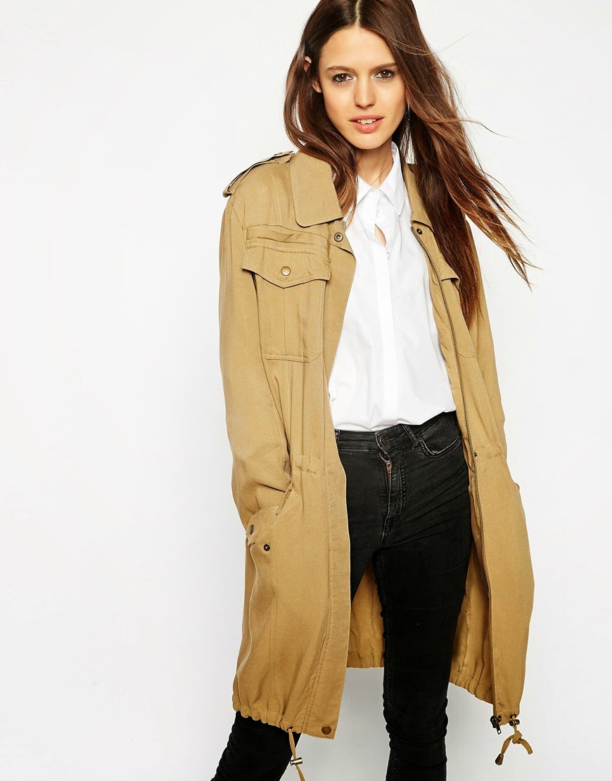 asos parka coat ladies