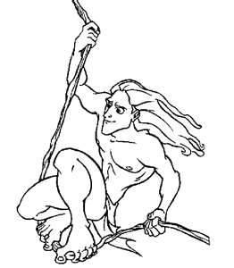 Tarzan Coloring Pages