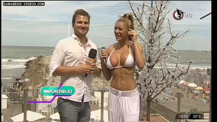 Argentina showgirl Pamela Pombo big tits bikini HD video