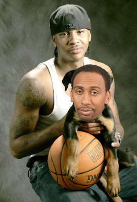 Carmelo Anthony and Stephen A. Smith, apologist, bitch, Pedro Gomez