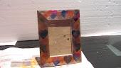CORNICE In legno decorata a mano con colori a spirito