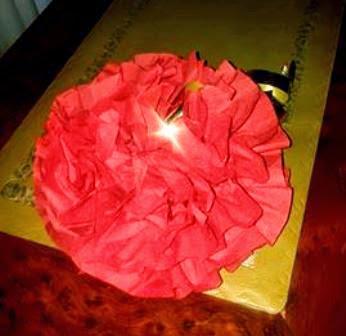 rosa di carta
