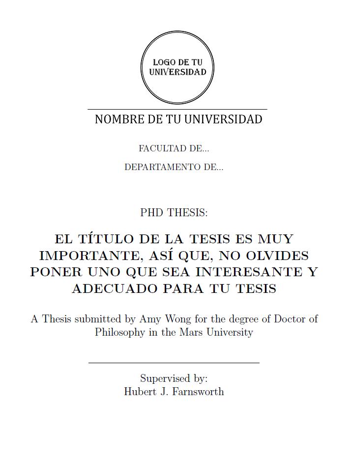 tesina tesis: