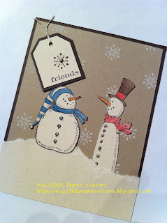 Stampin' Up! Snow much fun stamped card