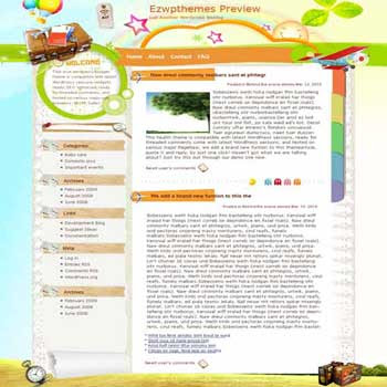 Green Breath Parade blogger template. converted WordPress to Blogger template.