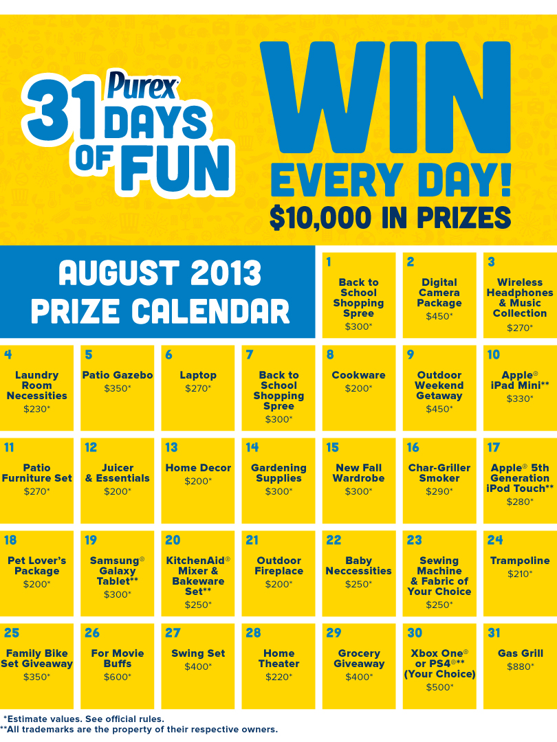 31DaysofFunCalendar GIVEAWAY: Win Fun Prizes from Were the Millers!