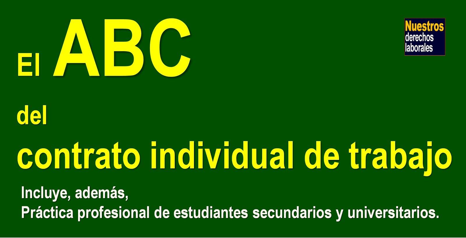 El ABC del contrato individual de trabajo.